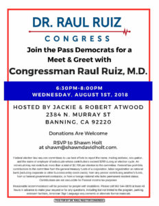 8/1 Meet and Greet with Dr. Ruiz @ Atwood's